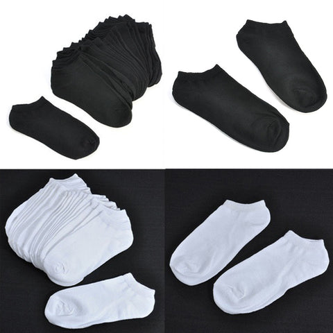 10 Pairs Mens Compression Ankle Boat Socks
