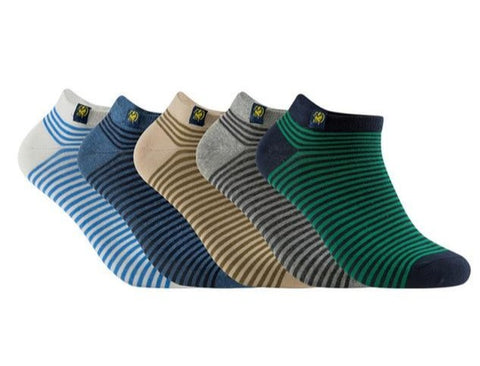5 Pairs Mens Summer Cotton Ankle Socks