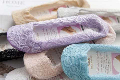 5 Pairs Womens Japanese lace lingerie socks