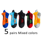 5 Pairs Mens Athletic Compression Ankle Socks