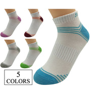 5 Pairs Womens Running Crew Compression Socks