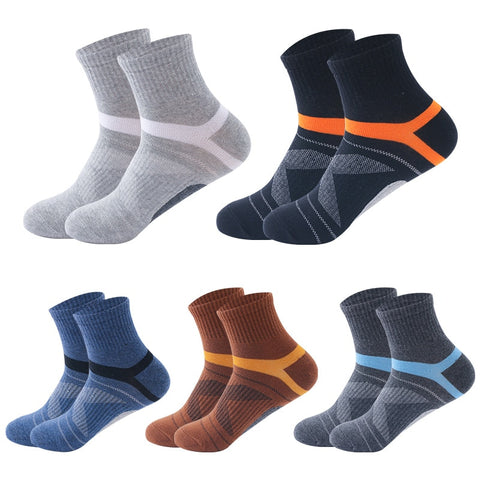 5 pairs Mens Compression Breathable Athletic Socks