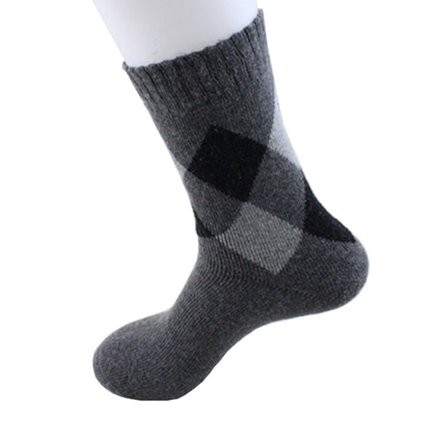 4 Pairs Mens Winter Wool Compression Socks
