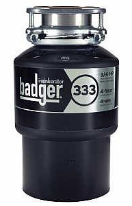 Badger 333 3/4 HP Continuous Feed Food Waste Disposer with Cord