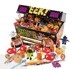 HALLOWEEN HALLOWEEN TREASURE CHEST TOY ASSORTMENT FOR FOOD ALLERGY TRICK OR TREATING - FREE INFO