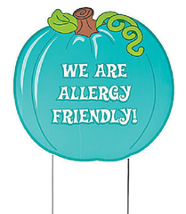 HALLOWEEN PUMPKIN TEAL PUMPKIN YARD SIGN HOME DECOR FALL FOOD ALLERGY - FREE INFO