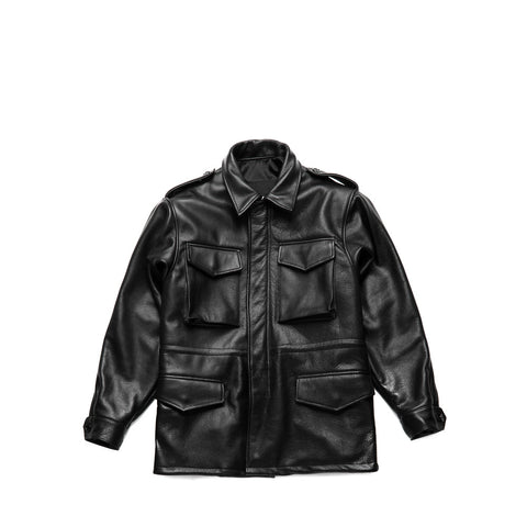 POWER LEATHER FIELD JACKET