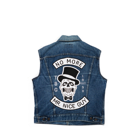 NO MORE MR. NICE GUY DENIM VEST