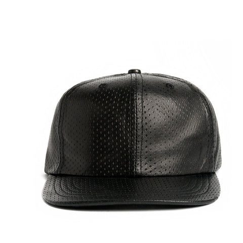 LEATHER MESH BASEBALL CAP