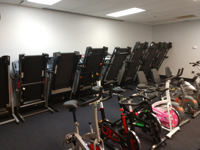 treadmill and fitness equipment showroom