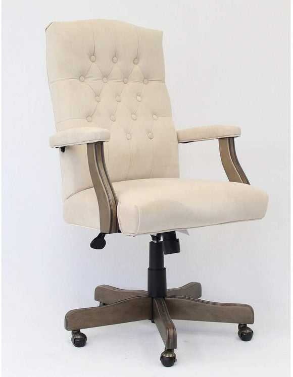 Boss Office chair in Velvet Champagne