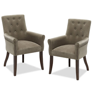"Pair of Belham Living ""Thomas"" Dining Chairs - Beige"