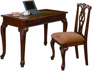 "Crown Mark ""Fairfax"" Desk / Chair Combo"
