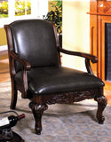 Furniture of America Solid Wood Occasional Chair