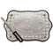 Mahagony Challah Tray 30X44 cm with Metal Plaque & Knife