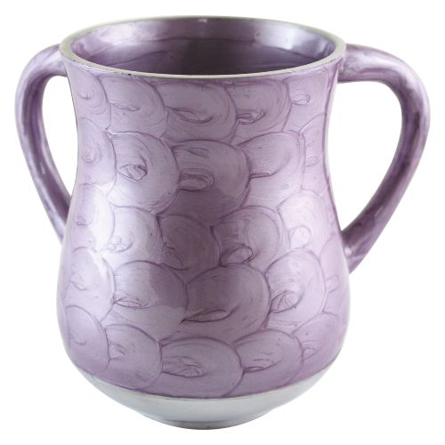 Aluminum Washing Cup - Lavander Purple Enamel - 13 cm - Art - uk51583