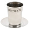 Elegant Stainless Steel Hammered Design Kiddush