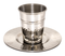 Hammered Kiddush Cup - Stainless Steel - (140 ml 4.7 oz)
