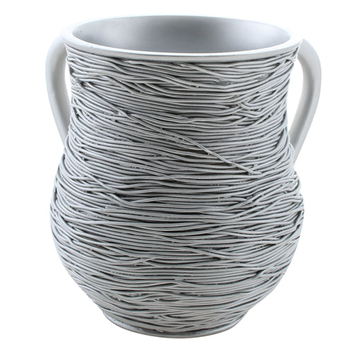 Polyresin Washing Cup - Silver Wire - 14 cm - UK54115