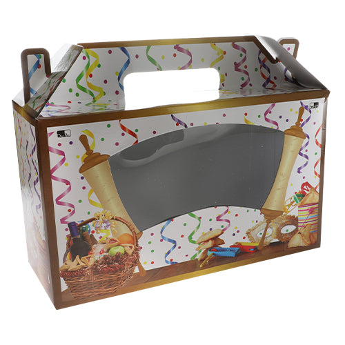 Carton Folding Box for Purim 34*13*20 cm