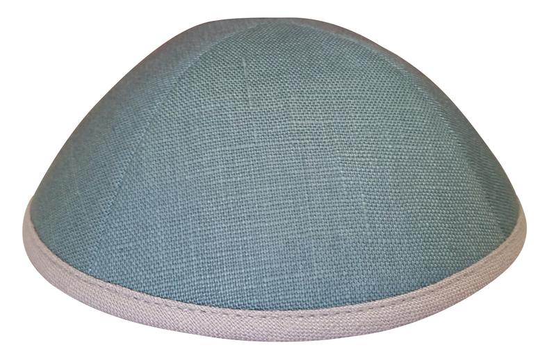IKIPPAH SEA GREEN WITH GRAY RIM YARMULKE