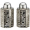 Crystal Salt & Pepper Shaker Set - Hexagonal - 9x5cm - Laser Cut Metal Plaque - Jerusalem Motif