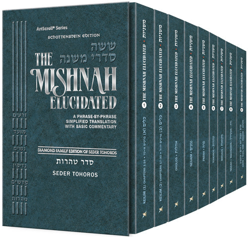 Mishnah Elucidated Tohoros Set - Personal size - 9 Vol.