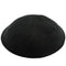 Art Judaica Knitted Kippah - Black - 16CM