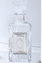 Crystal Square Liquor Bottle with Silver