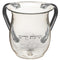 Clear Acrilic Washing Cup - Jerusalem Design - 13 cm