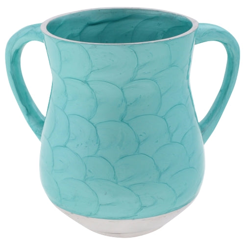Aluminum Washing Cup - Turquoise Enamel - 14 cm - Art - UK52326