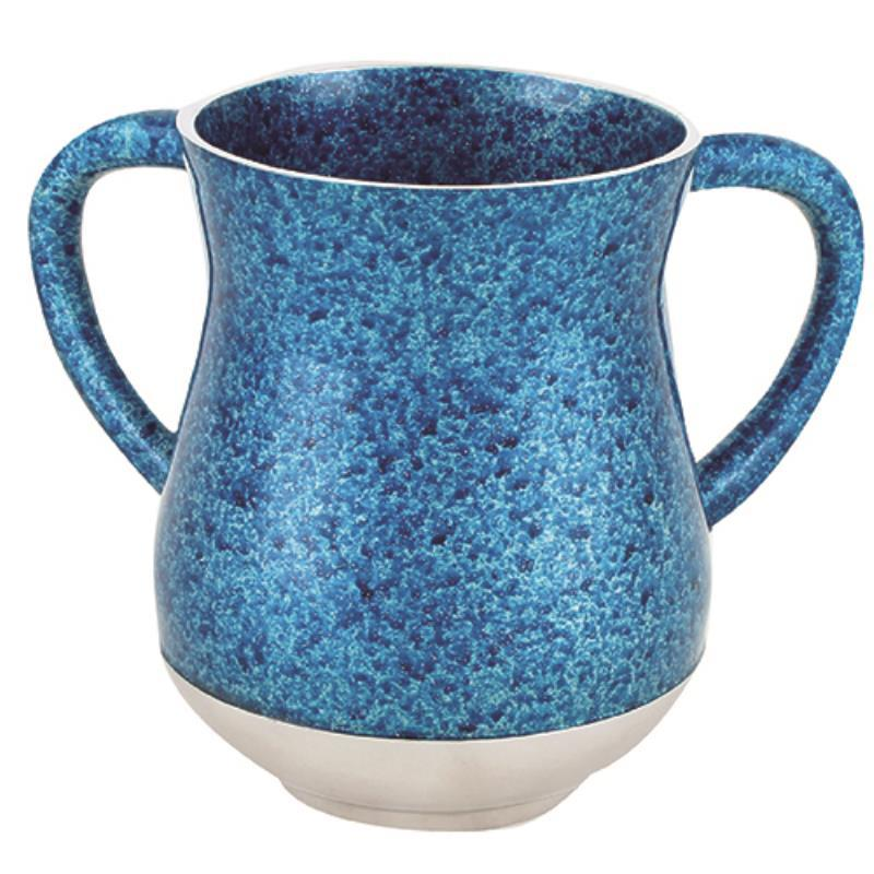 Aluminum Washing Cup - Coral Blue Glitter Enamel - 14 cm - UK54474