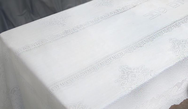 ELEGANT TABLECLOTH 350*140 CM- SHABBAT AND