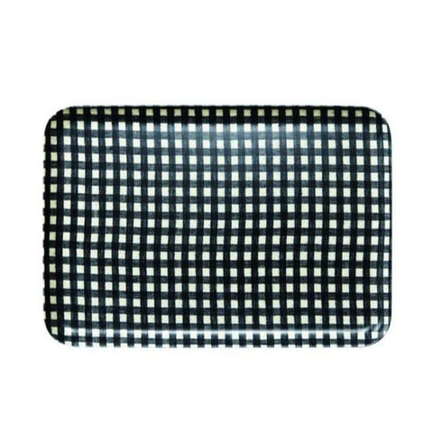 Linen Tray Large / Navy Check