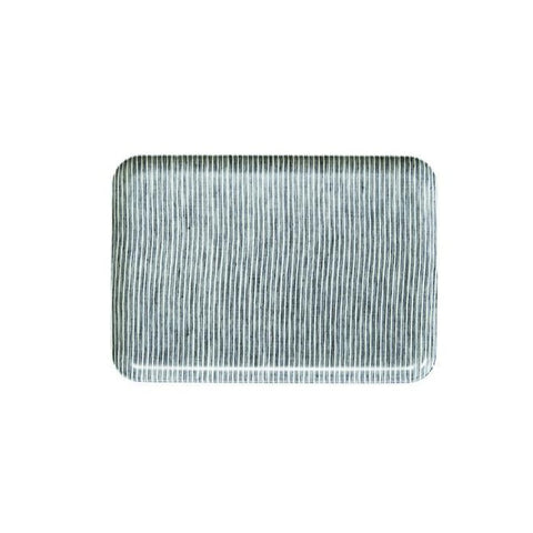 Linen Tray Medium / Grey Stripe