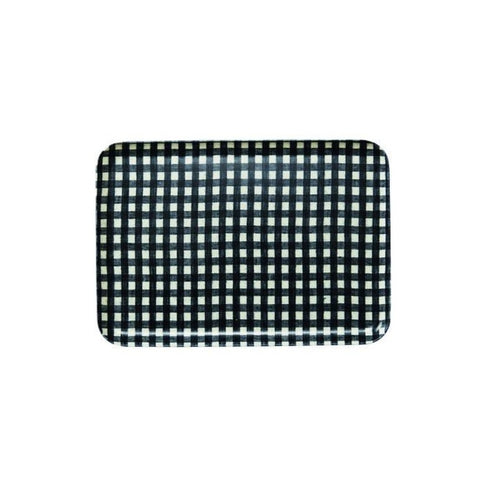Linen Tray Medium / Navy Check