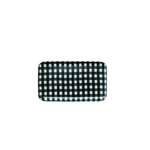 Linen Tray Small / Navy Check