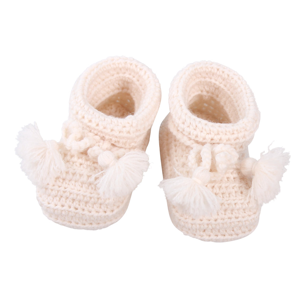 Charlie Crochet Wool Booties