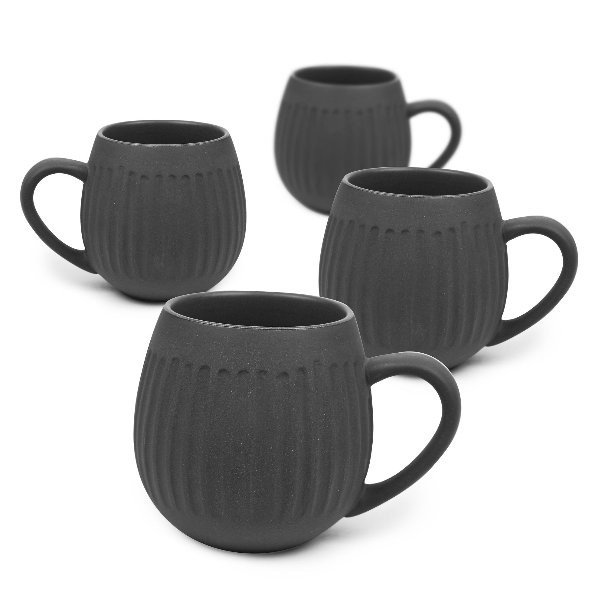 Tribe Mug Set / Black Clay