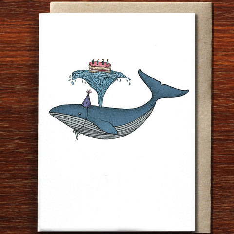 Greeting Card / Birthday Whale