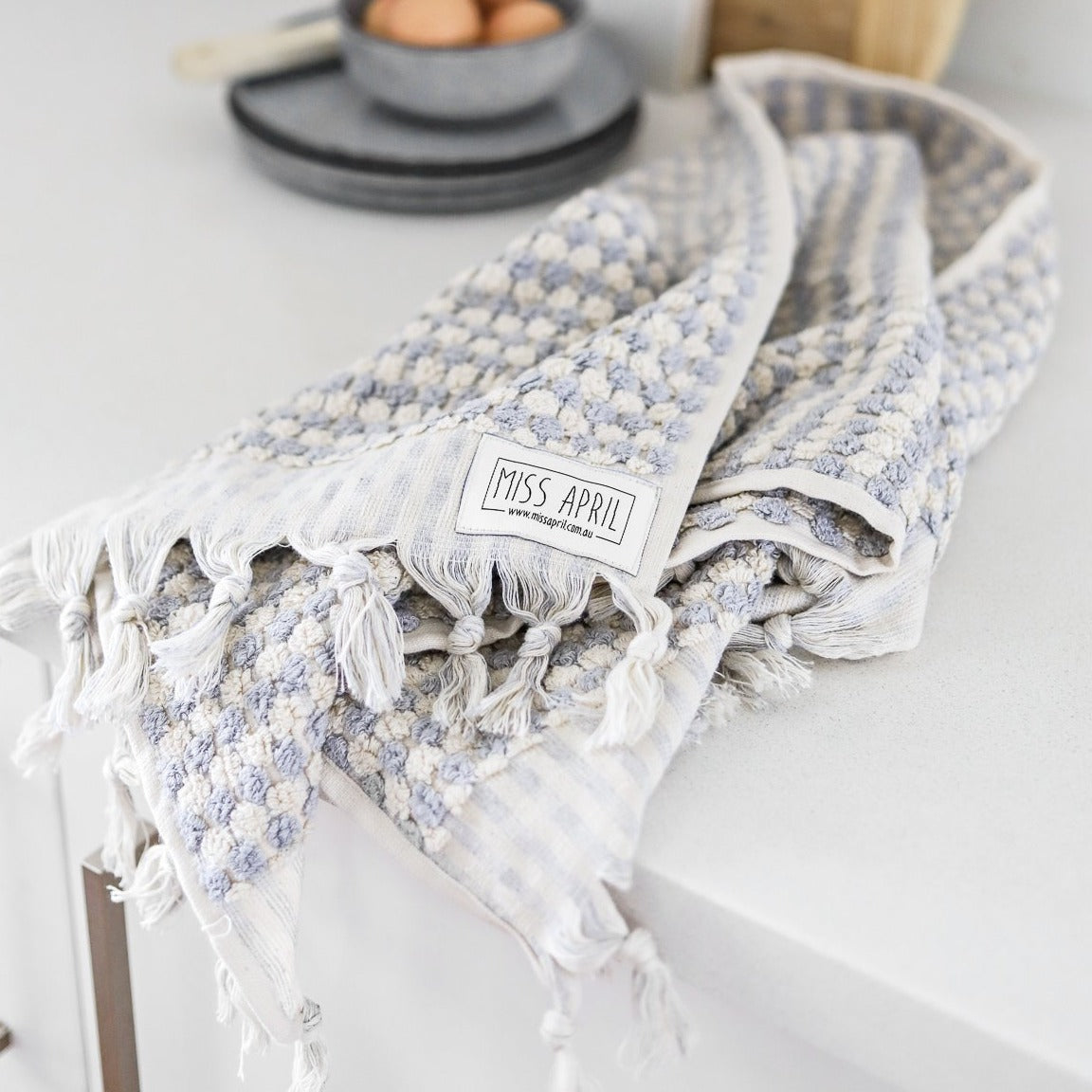 Turkish Hand Towel / Grey