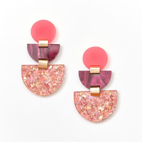 Boat Earrings / Pink