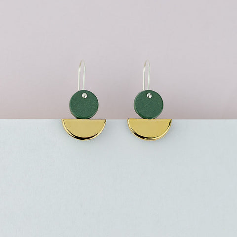 Float Earrings / Green