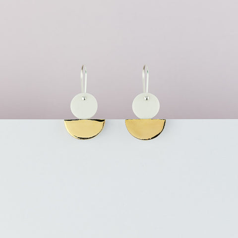 Float Earrings / White