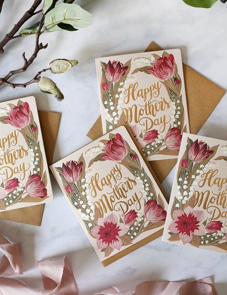 Letterpress Card / Happy Mothers Day