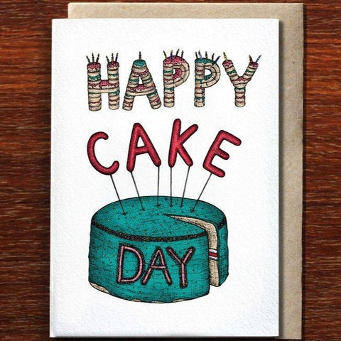 Greeting Card / Happy Cake Day