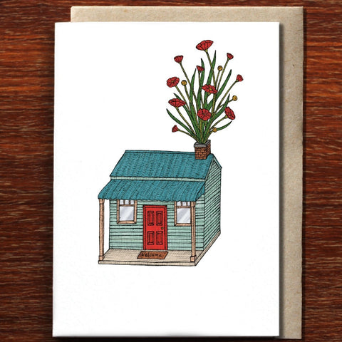 Greeting Card / House with Flowers