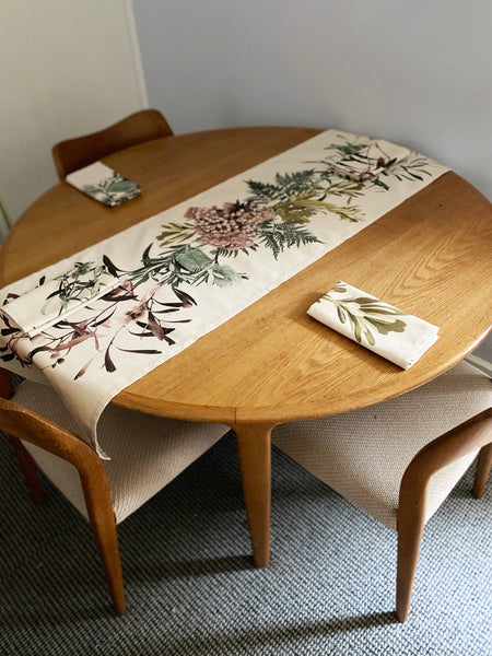 Digital Print Table Runner / Native Spray