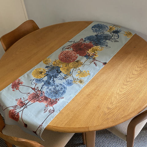 Digital Print Table Runner / Queen Anne