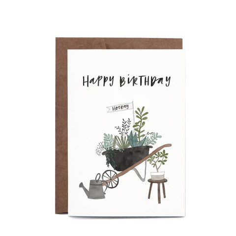 Greeting Card / Birthday Wheelbarrow